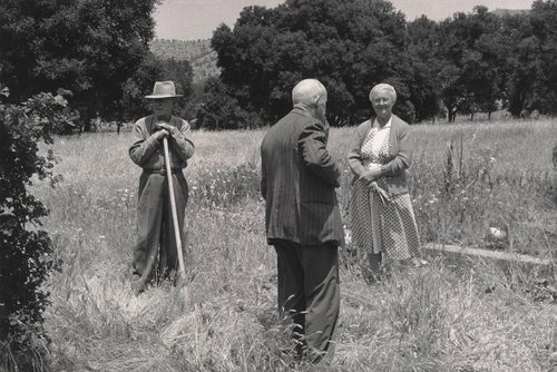 Untitled [Last Memorial Day, Foster Clark with shovel, Perrine Swift Clark], from the series Berryessa Valley The Last Year