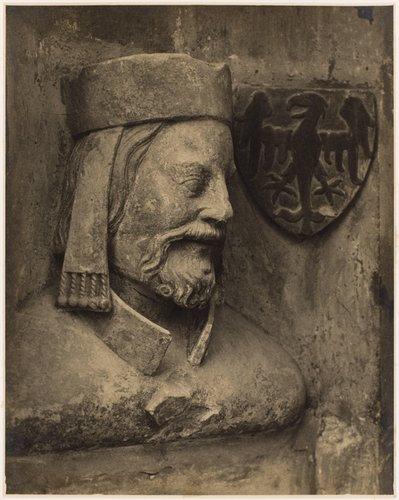 Karel IV., busta z triforia chrámu sv. Víta (Charles IV, bust of triforium of St. Vitus Cathedral, from the portfolio Svatý Vit, Saint-Guy)