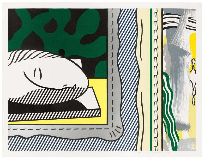 "image of Two Paintings: Sleeping Muse, from the series ""Paintings"""