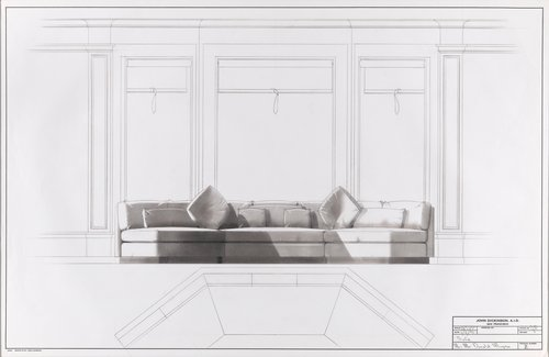 Sofa for Mr. and Mrs. Donald Magnin
