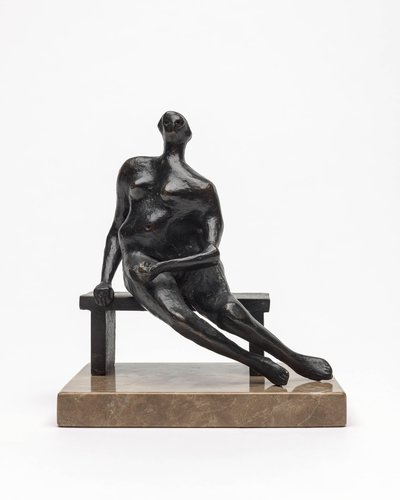 Maquette for Seated Woman
