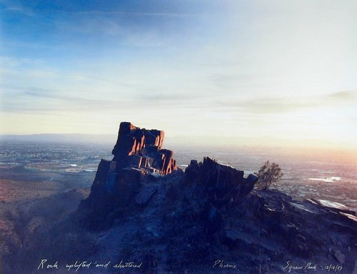 Rock Uplifted and Shattered, Phoenix, Squaw Peak 12/18/83