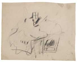Willem de Kooning, Untitled, ca. 1947–49.
