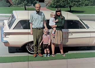 Bechtle, family in front of car