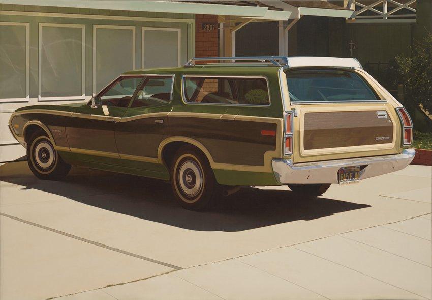 Artwork image, Robert Bechtle's Alameda Grand Torino, 1974