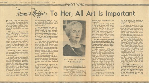 Newspaper clip about Elise Haas