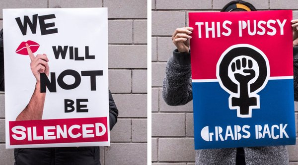 Womens March protest signs