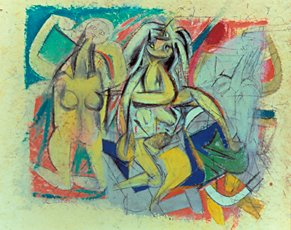 de Kooning, two abstract figures