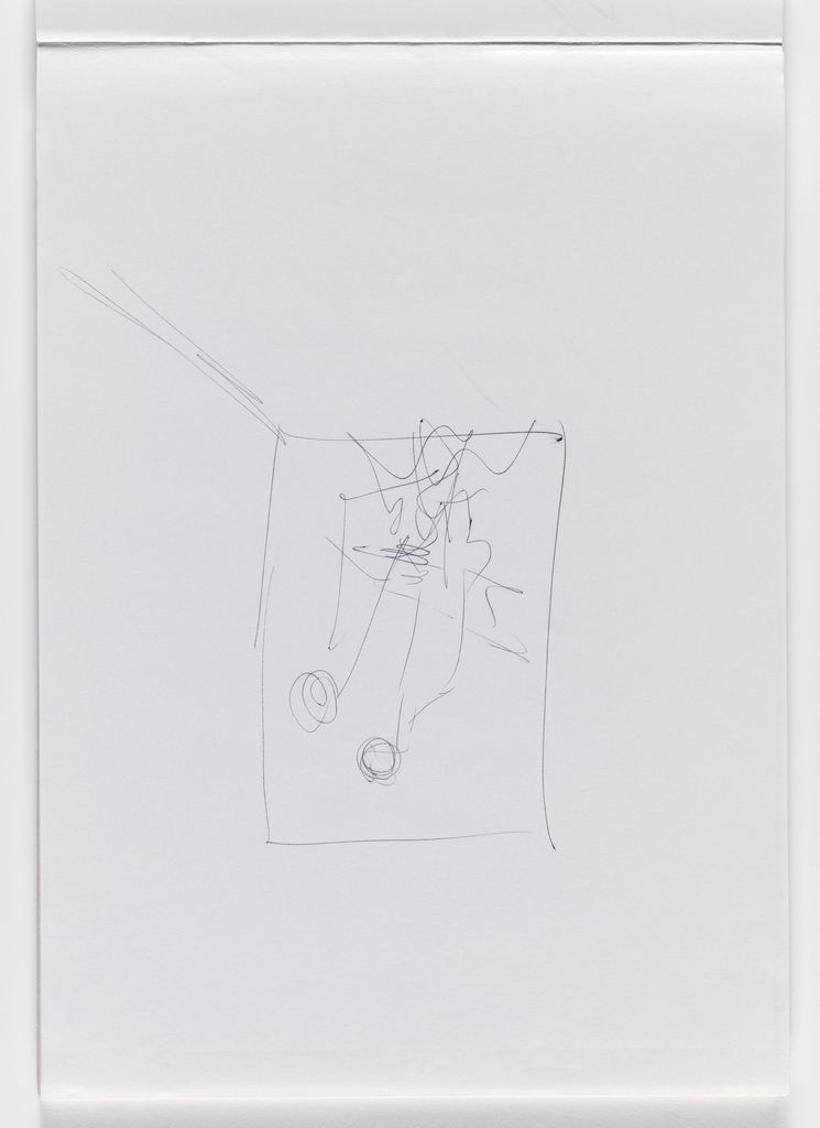 Nam June Paik, Untitled, from Untitled Notebook, 1980 page 6