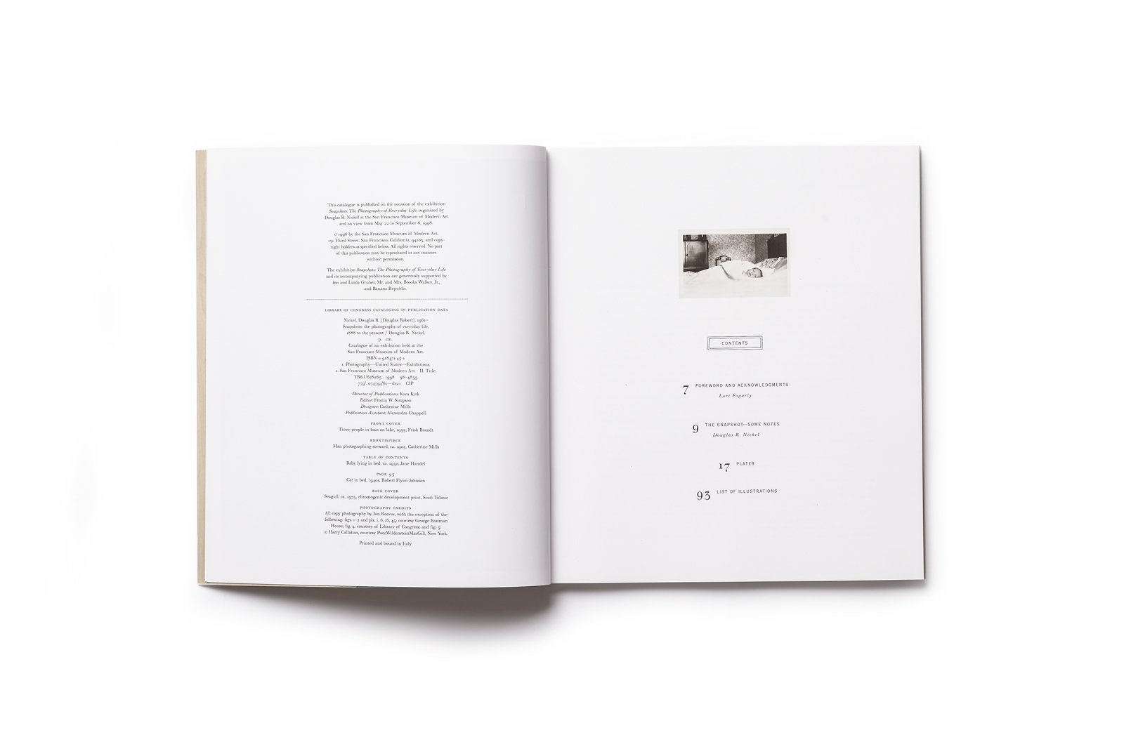 Snapshots publication table of contents