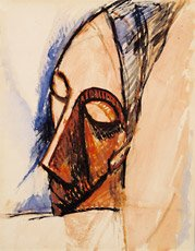 picasso drawing three-quarter view of head