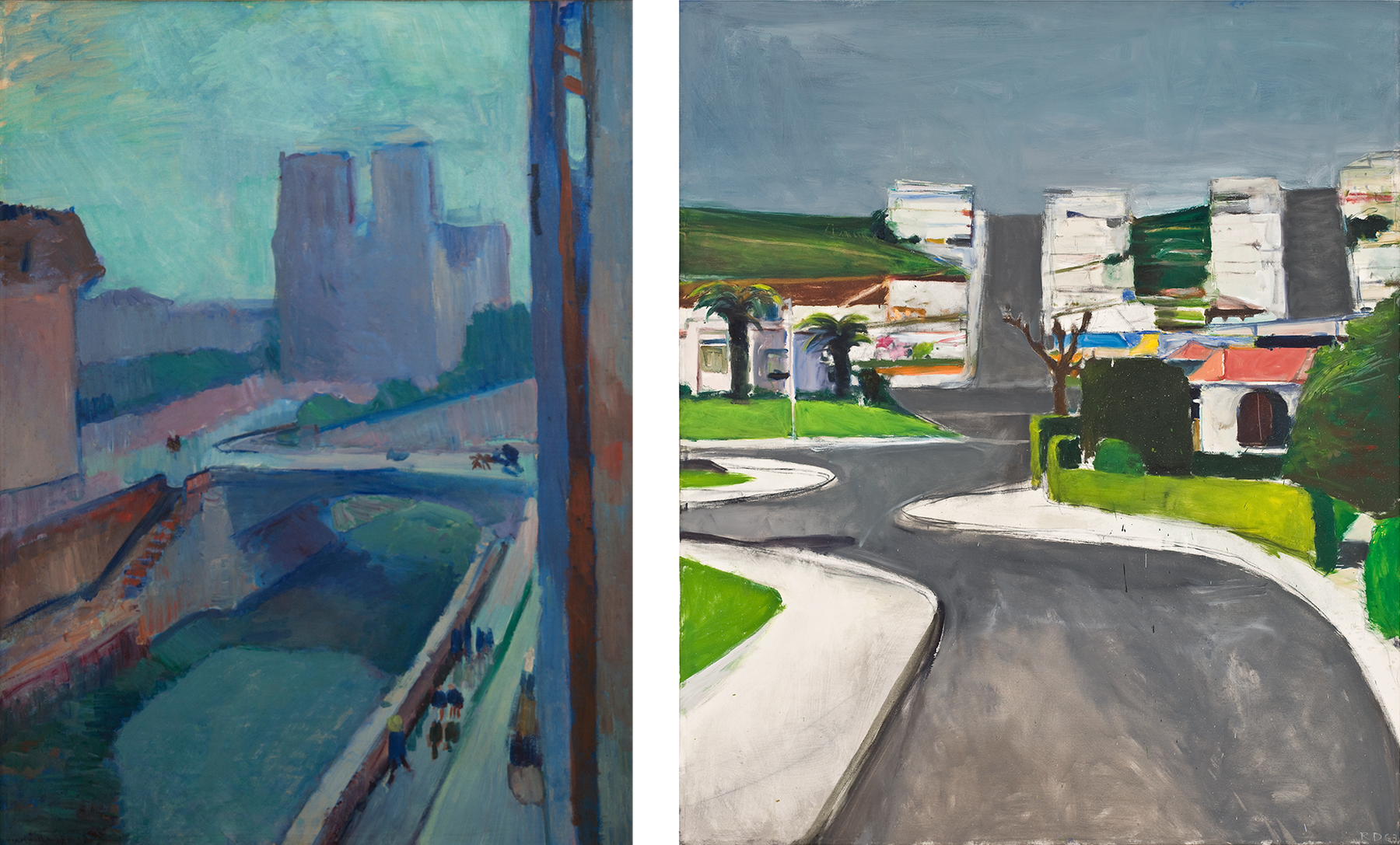 Artwork images, Matisse Late Afternoon and Diebenkorn Ingleside