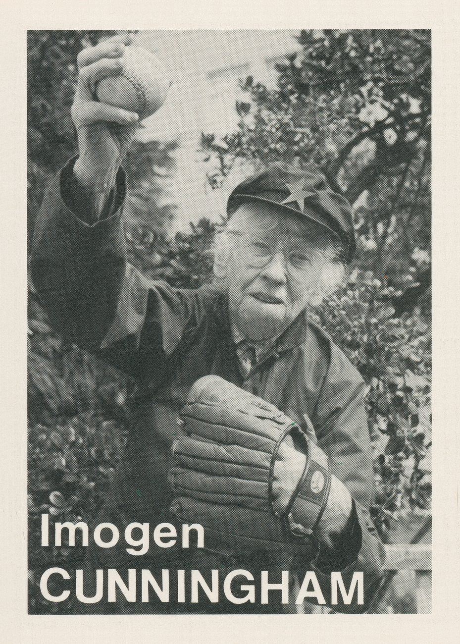 Artwork image, ​Mike Mandel, Baseball-Photographer Trading Card #88 (Imogen Cunningham)