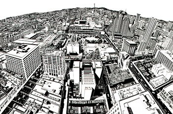 Rigo 98, aerial perspectival view of San Francisco
