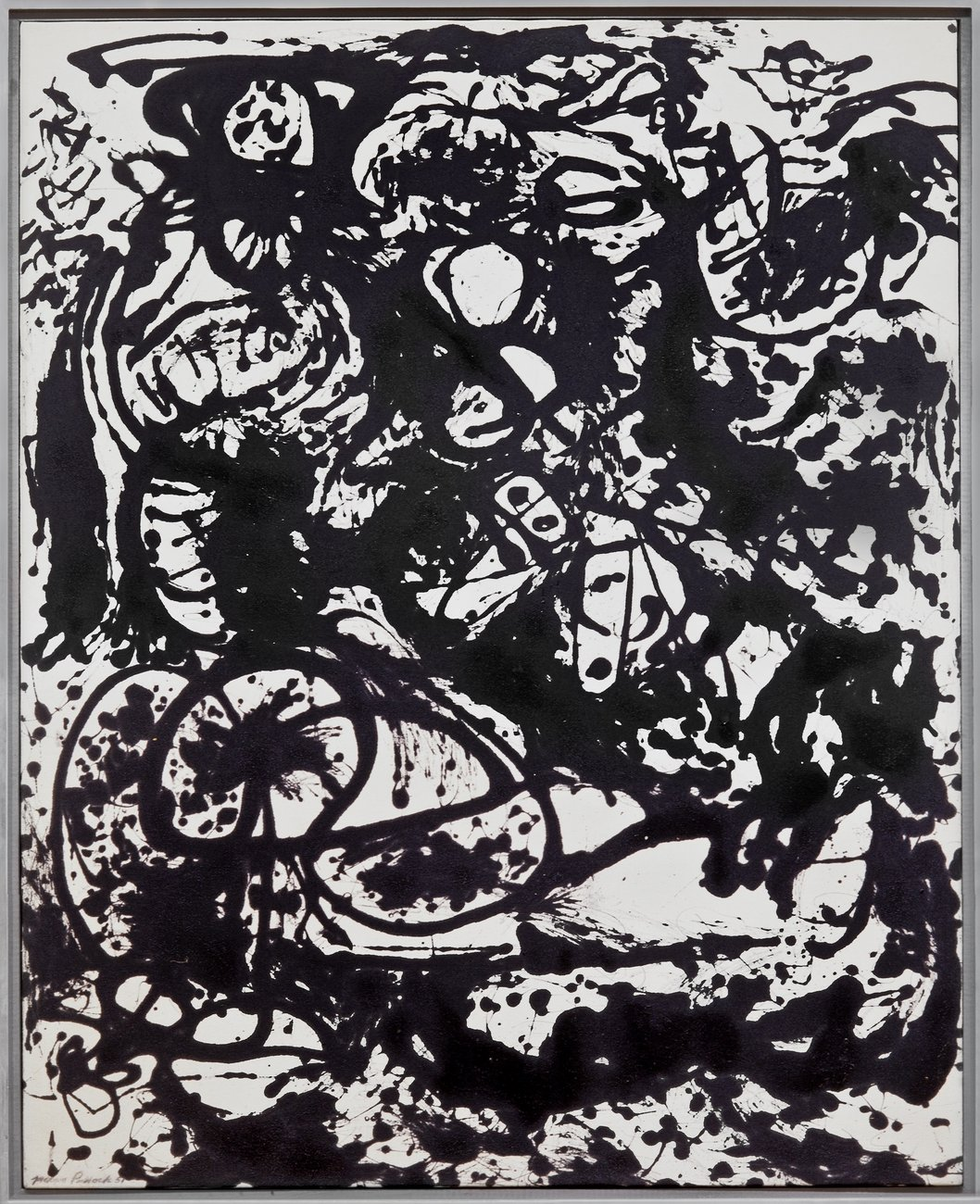 Artwork image, Jackson Pollock's Black and White (Number 6)