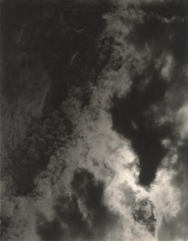 Stieglitz, black and white photo of cloudy sky