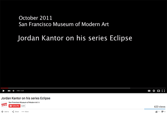 Screenshot of Youtube video title card for Jordan Kantor on his series Eclipse