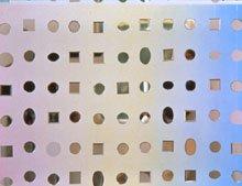 small circle and rectangular mirrors on wall
