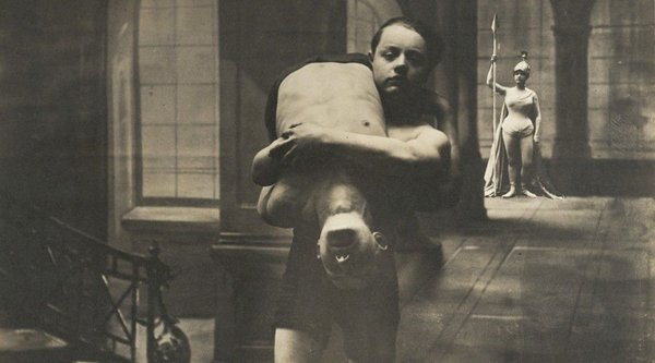 Dora Maar, young boy holding child over shoulder