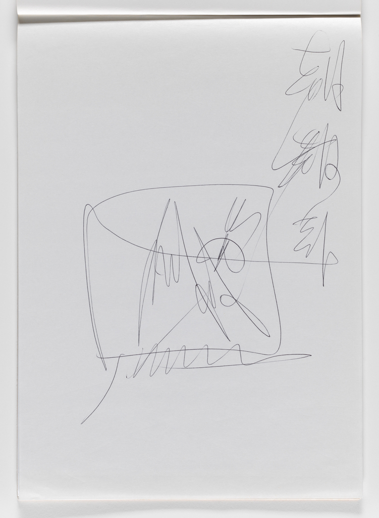 Nam June Paik, Untitled, from Untitled Notebook, 1980 page 38