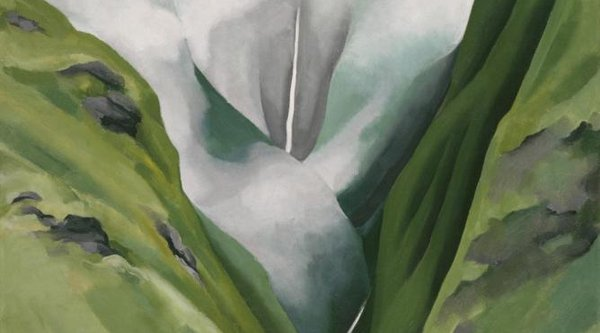 Georgia O'Keeffe painting in Hawaii