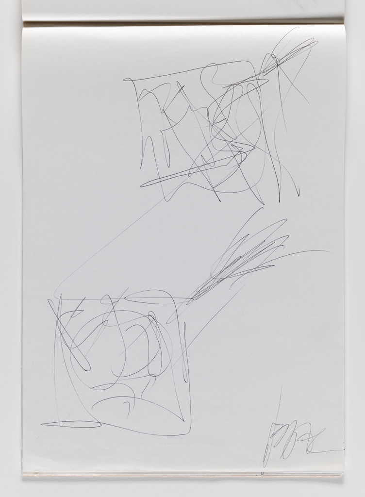 Nam June Paik, Untitled, from Untitled Notebook, 1980 page 44
