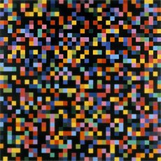 Ellsworth Kelly, scattered black and colored squares