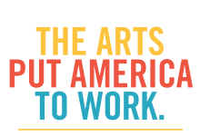 A logo saying The Arts Put America to Work