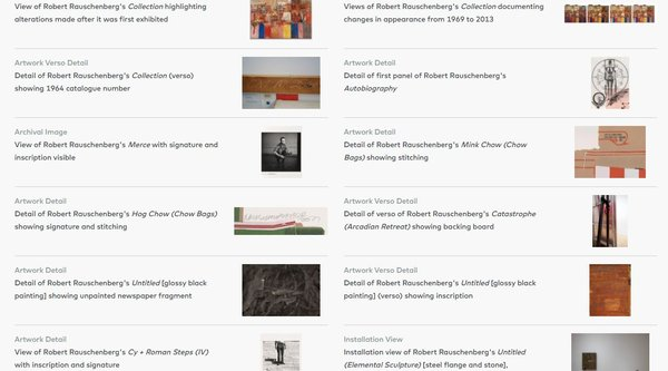 A grid of artwork thumbnails