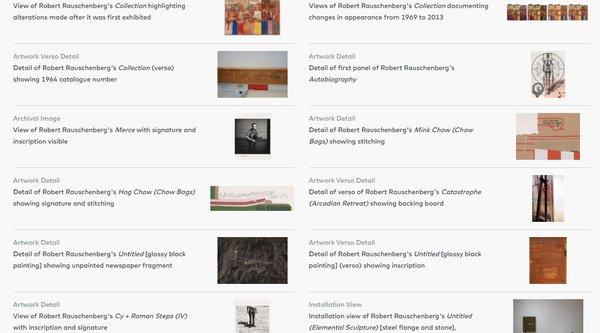A grid of artwork thumbnails