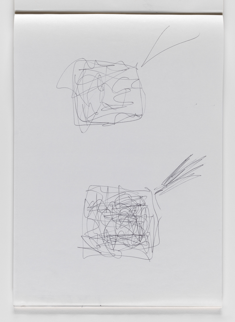 Nam June Paik, Untitled, from Untitled Notebook, 1980 page 18