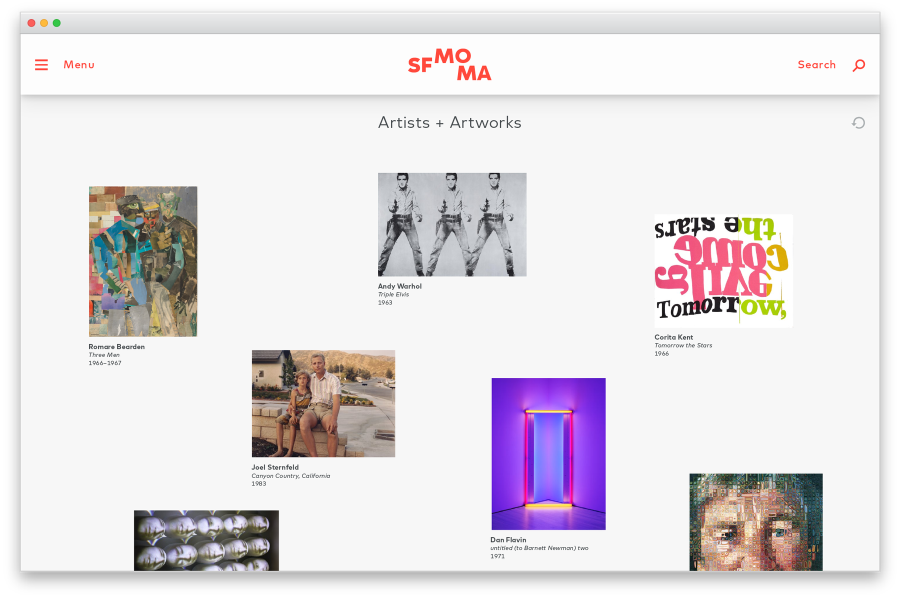 SFMOMA artist and artworks page