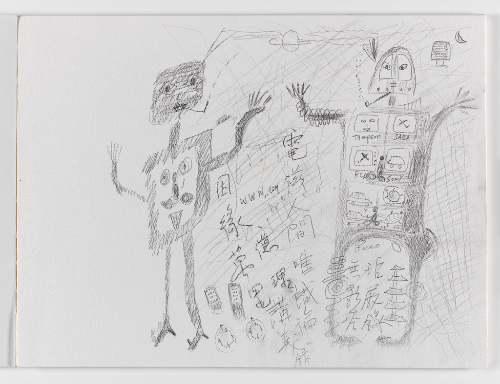 Nam June Paik, A Drawing Notebook Large, 1987 page 1