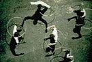 steve mcqueen film still of men dancing