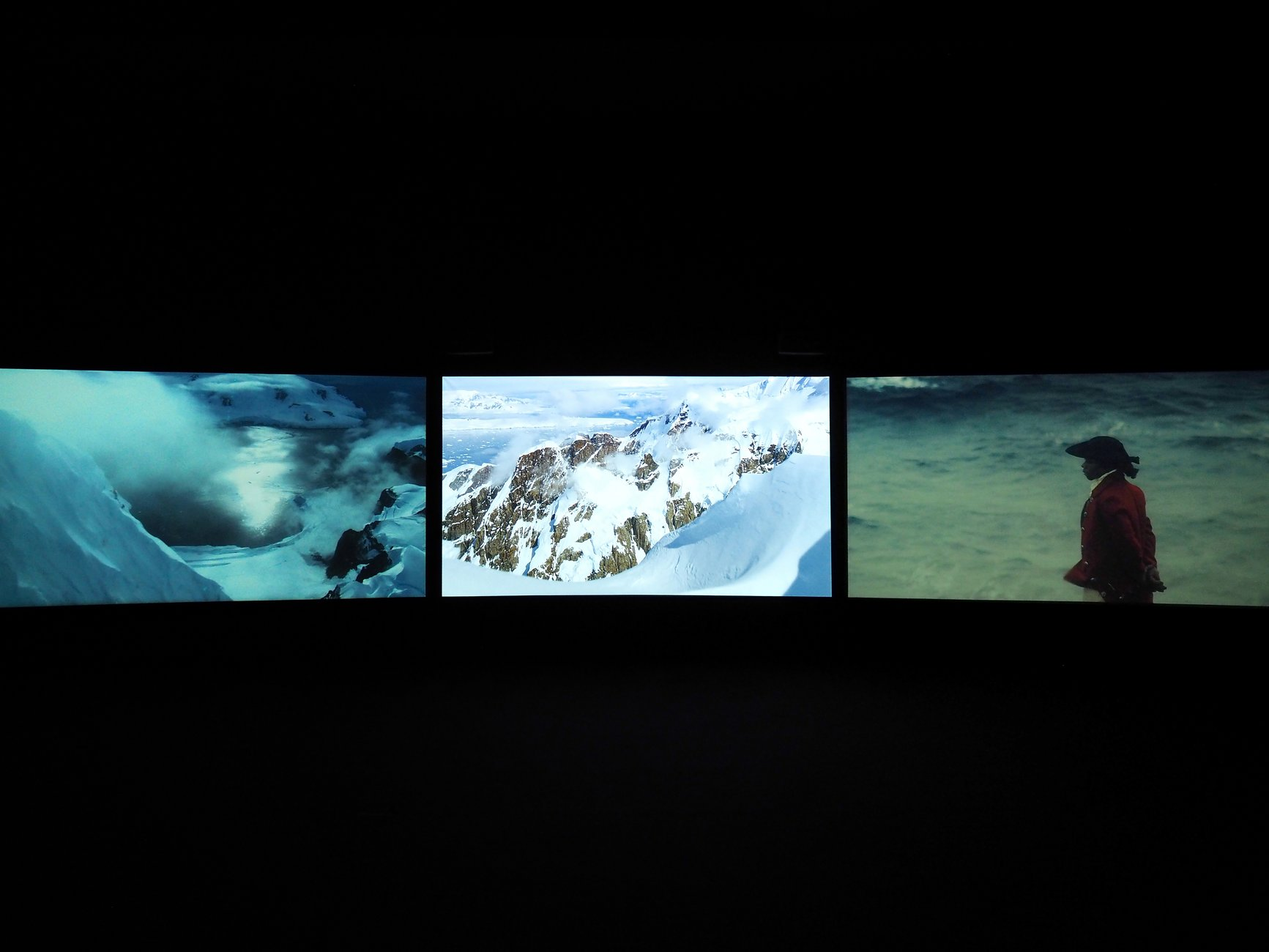 John Akomfrah, Vertigo Sea, installation view