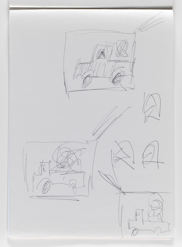 Nam June Paik, Untitled, from Untitled Notebook, 1980 page 35