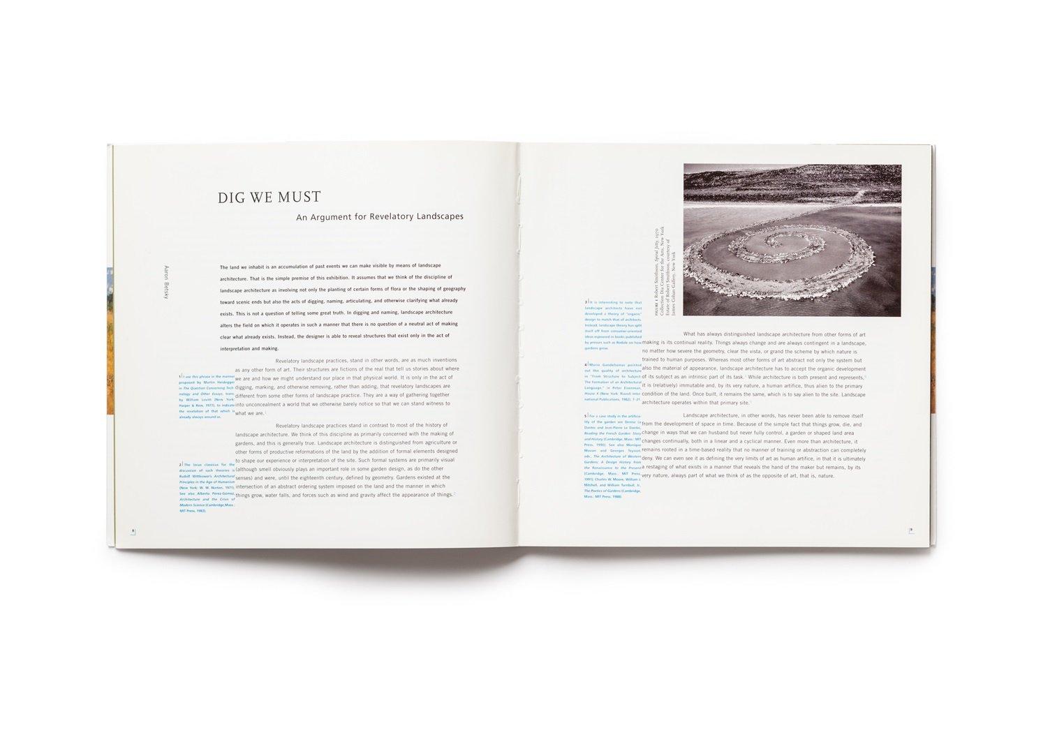 Revelatory Landscapes publication pages 8-9