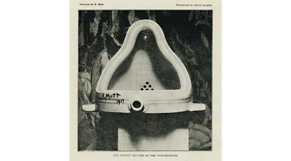 Duchamp's Fountain featured in The Blind Man