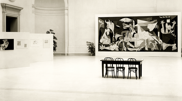 Guernica installated at SFMOMA