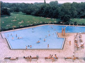 Gursky, swimming pool and field