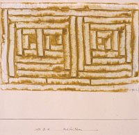 Klee, two doors with yellow rectangles