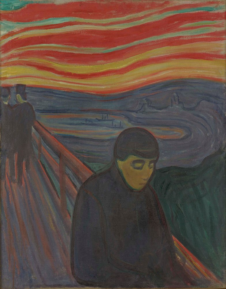 Artwork image, ​Edvard Munch, Fortvilelse (Despair)