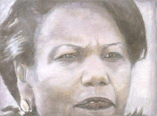 Luc Tuymans, painting of condoleezza rice