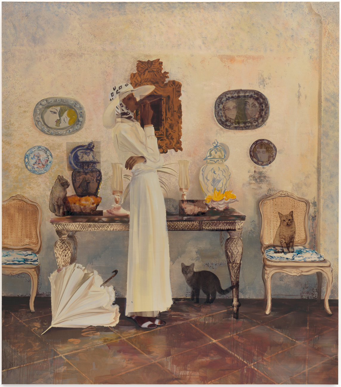 Artwork image, Paulina Olowska, A Portrait of the Artist - Indoors