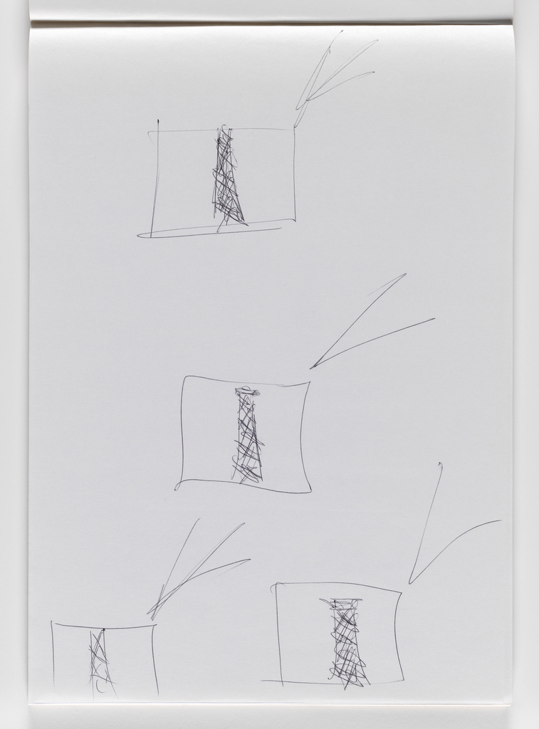Nam June Paik, Untitled, from Untitled Notebook, 1980 page 14