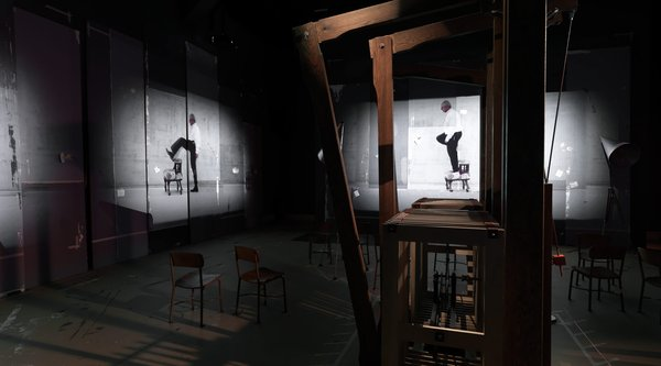 Installation of William Kentridge's The Refusal of Time