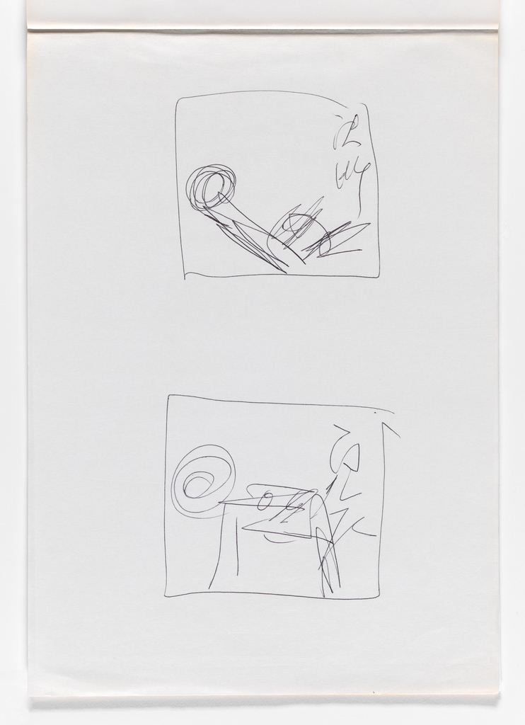 Nam June Paik, Untitled, from Untitled Notebook, 1980 page 47