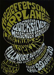 Wes WIlson Jefferson Airplane poster