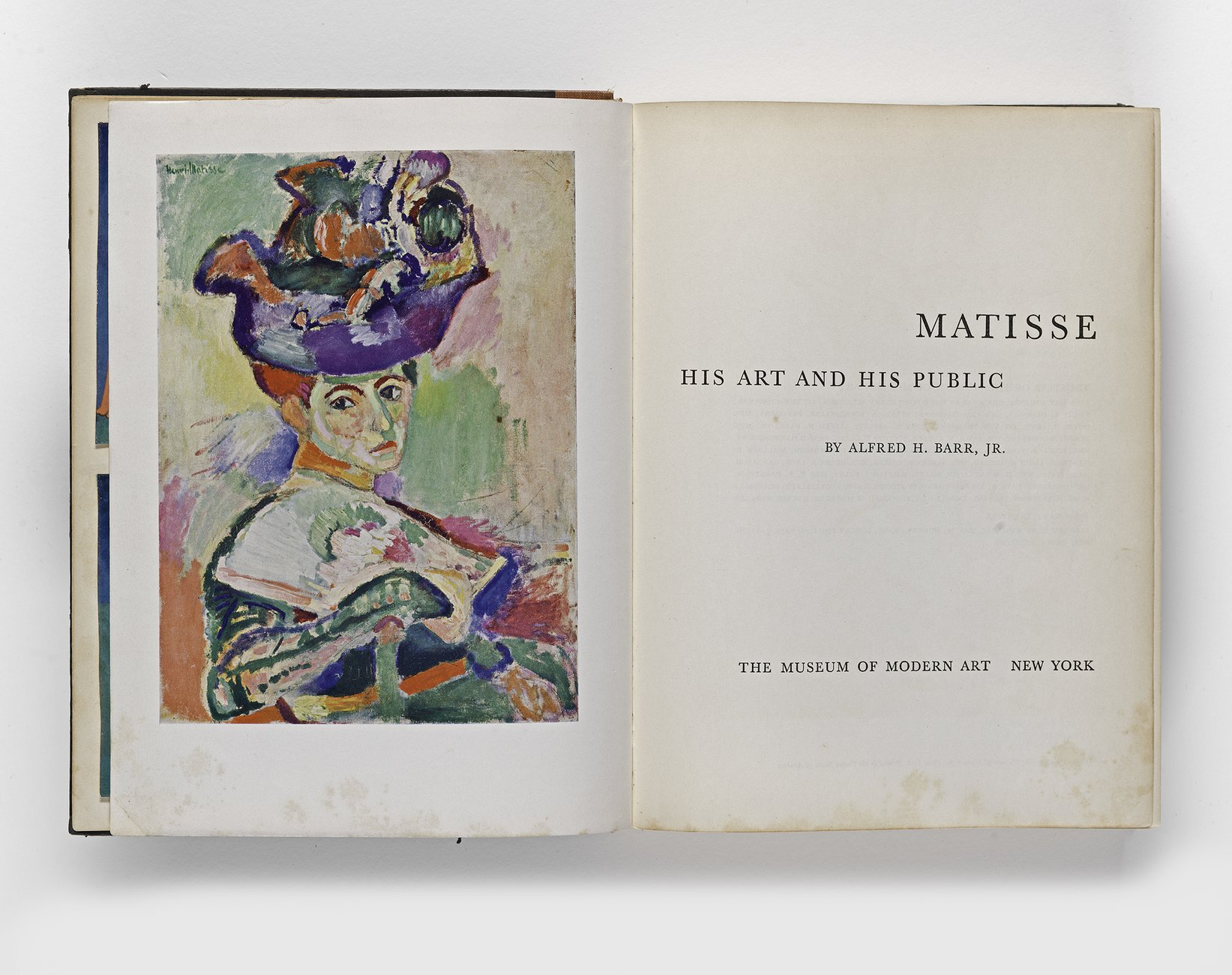 Alfred Barr, ​Matisse: His Art and His Public​, 1951 (TITLE PAGE)