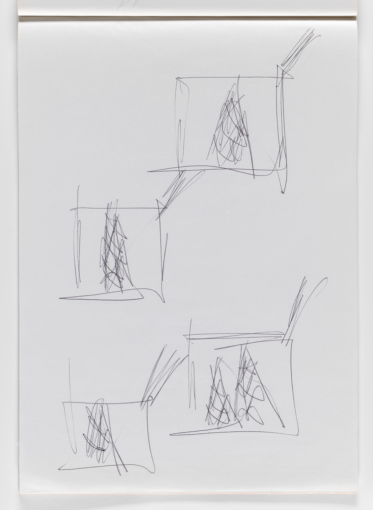Nam June Paik, Untitled, from Untitled Notebook, 1980 page 41
